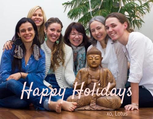 happy holidays lotus